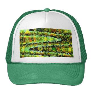 Green Lagoon Romance : Waves n Spectrum Mesh Hats