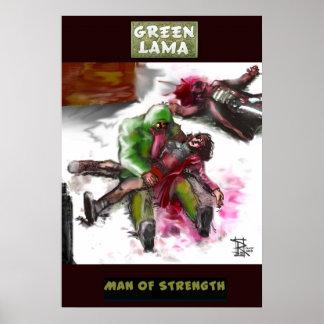 GREEN LAMA - MAN OF STRENGTH POSTER