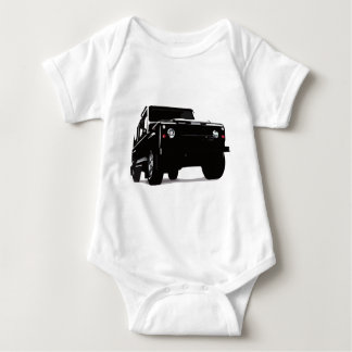 Green Landy Land Rover Defender Hiking Duck Baby Bodysuit