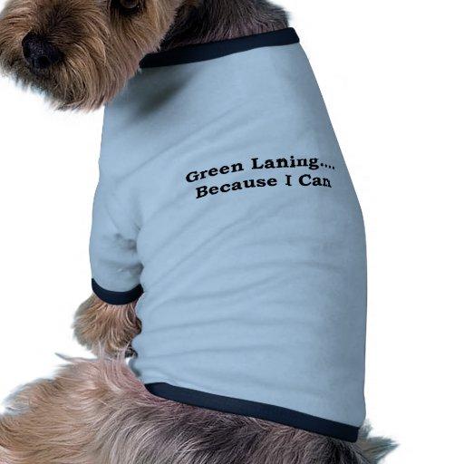 Green laning black pet shirt