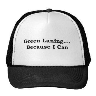 Green laning black trucker hat