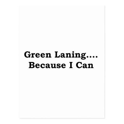 Green laning black postcards