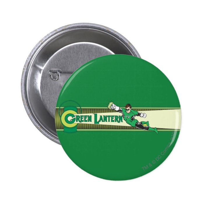 Green Lantern and Logo 6 Cm Round Badge