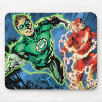 Green Lantern and The Flash Panel Mouse Pad