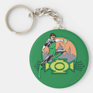 Green Lantern City Background and Logo Keychains