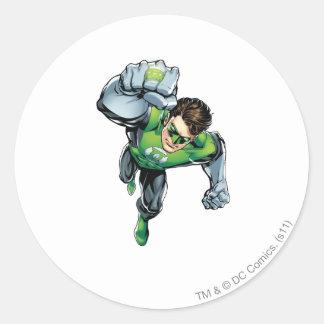 Green Lantern - Comic,  Arm Raise Round Sticker