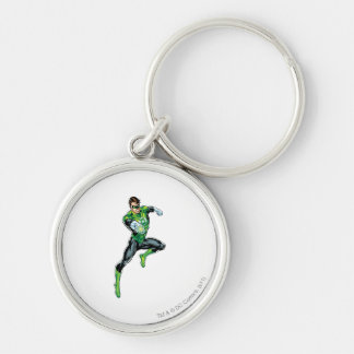 Green Lantern - Comic, Jumping Silver-Colored Round Key Ring