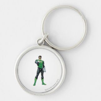 Green Lantern - Comic, Standing Silver-Colored Round Key Ring