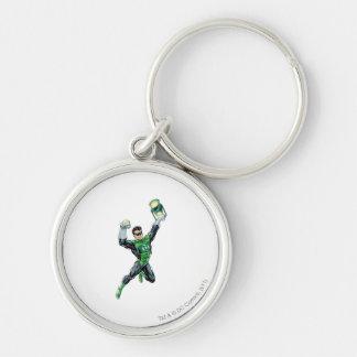Green Lantern - Comic, with lantern Silver-Colored Round Key Ring