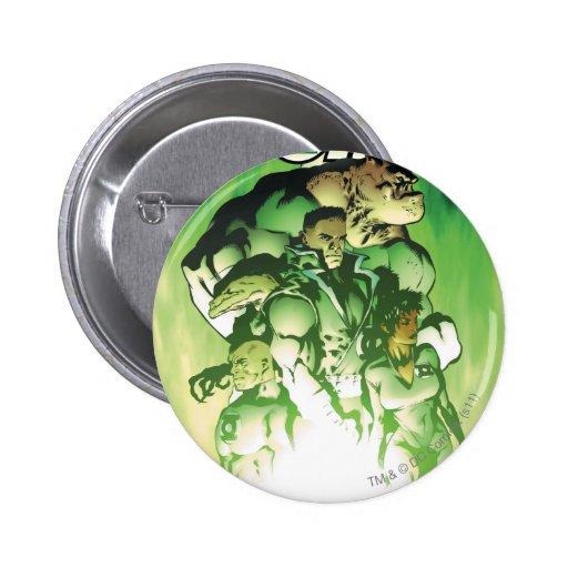Green Lantern Corps Pinback Buttons