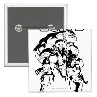Green Lantern Corps, Black and White 15 Cm Square Badge