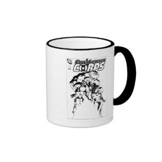 Green Lantern Corps Black and White Coffee Mug