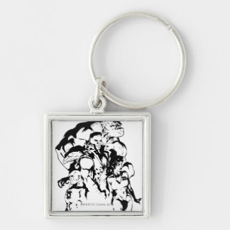 Green Lantern Corps Black and White Keychains