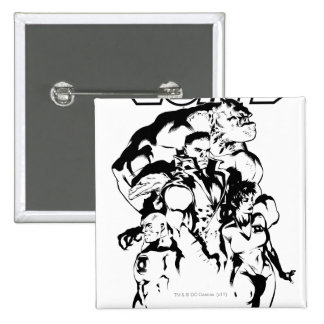 Green Lantern Corps Black and White Pins