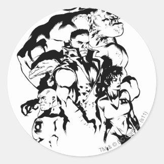 Green Lantern Corps, Black and White Round Sticker