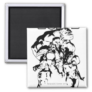 Green Lantern Corps, Black and White Square Magnet