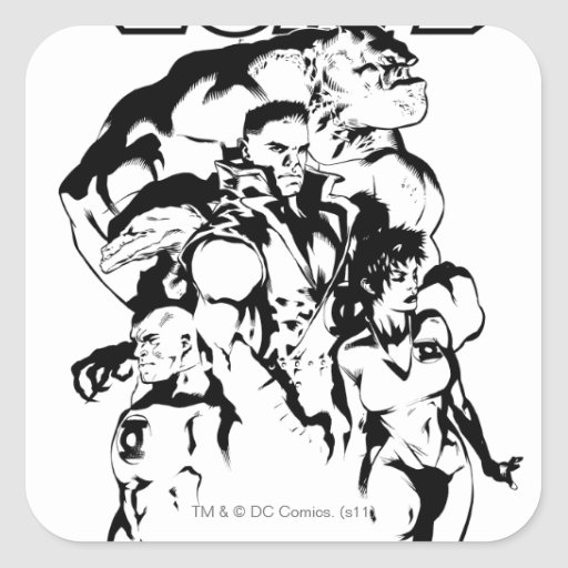 Green Lantern Corps, Black and White Sticker