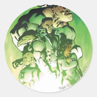 Green Lantern Corps Round Sticker
