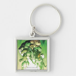 Green Lantern Corps Silver-Colored Square Key Ring