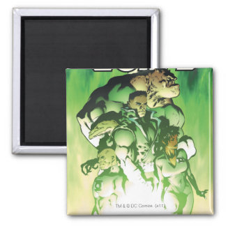 Green Lantern Corps Square Magnet