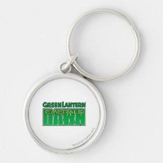 Green Lantern - Emerald Dawn Logo Silver-Colored Round Key Ring