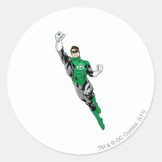 Green Lantern  - Flying Up Round Sticker