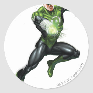 Green Lantern - Fully Rendered,  Jumping Round Sticker