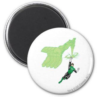 Green Lantern - Fully Rendered,  with machine 6 Cm Round Magnet