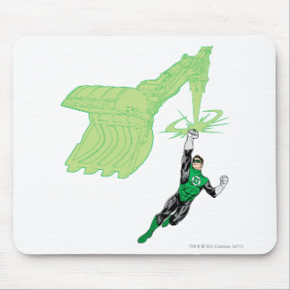 Green Lantern - Fully Rendered,  with machine Mouse Pad