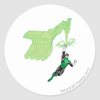 Green Lantern - Fully Rendered,  with machine Round Sticker