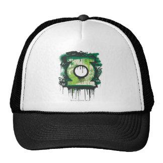 Green Lantern Graffiti Symbol Mesh Hat