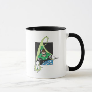 Green Lantern in Space Mug