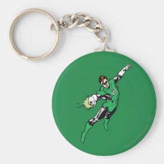 Green Lantern Jump Basic Round Button Key Ring