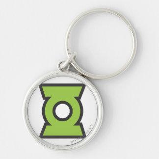 Green Lantern Logo 11 Silver-Colored Round Key Ring