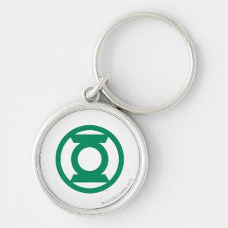 Green Lantern Logo 13 Silver-Colored Round Key Ring