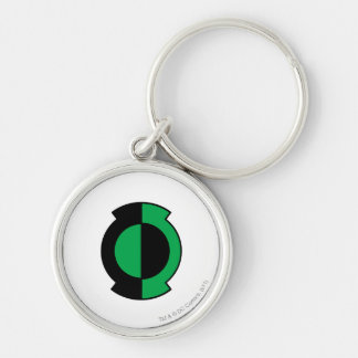 Green Lantern Logo Flipped Silver-Colored Round Key Ring