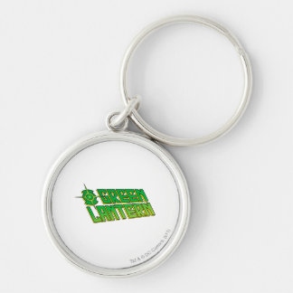 Green Lantern Logo - Slanted Silver-Colored Round Key Ring