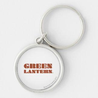 Green Lantern Logo - Tan Silver-Colored Round Key Ring