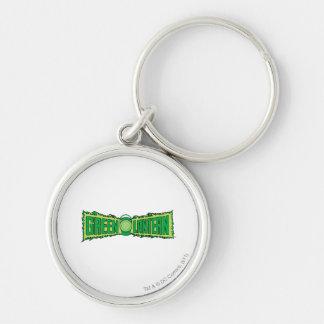 Green Lantern Logo with Lantern Silver-Colored Round Key Ring