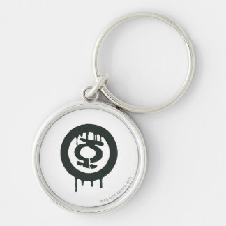 Green Lantern Paint Symbol Silver-Colored Round Key Ring