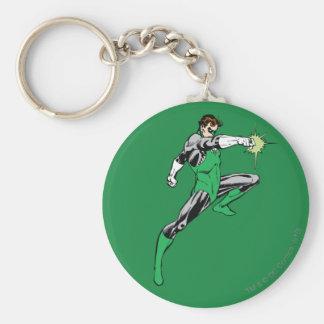 Green Lantern Pointing Ring Basic Round Button Key Ring