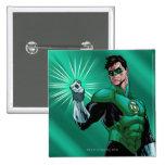 Green Lantern & Ring 15 Cm Square Badge