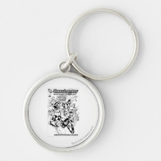 Green Lantern - Secret Files and Origins Cover, Bl Silver-Colored Round Key Ring