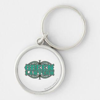 Green Lantern Showtime Letters Silver-Colored Round Key Ring