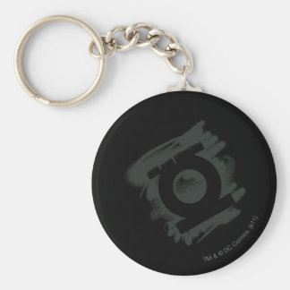 Green Lantern Spray Symbol Basic Round Button Key Ring