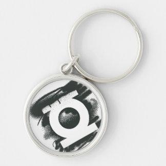 Green Lantern Spray Symbol Silver-Colored Round Key Ring