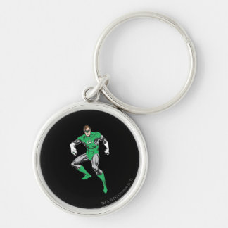 Green Lantern Squats Silver-Colored Round Key Ring