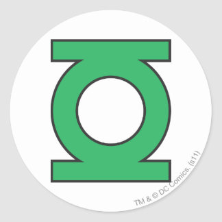 Green Lantern Symbol Classic Round Sticker
