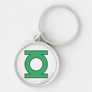 Green Lantern Symbol Silver-Colored Round Key Ring