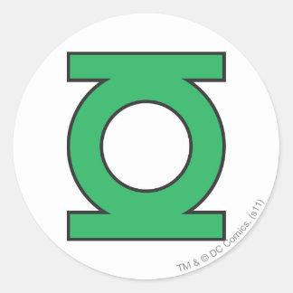 Green Lantern Symbol Round Sticker